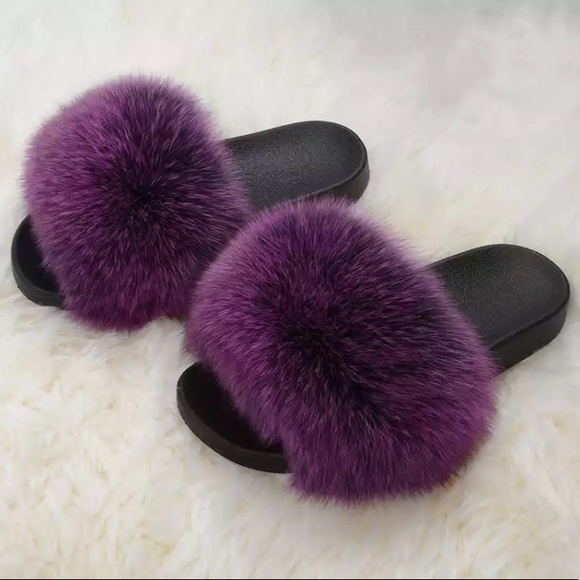 haus of layers shoes new real fur slides fur slippers poshmark